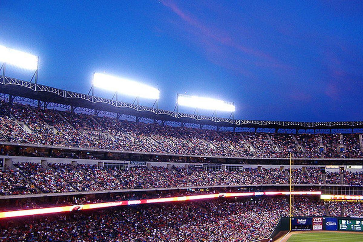 The Rangers Ballpark in Arlington.