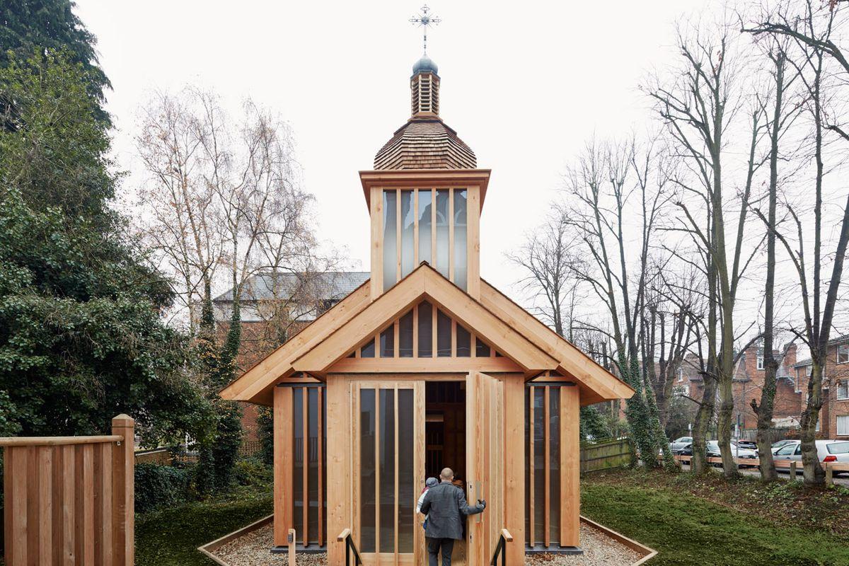 prefab wooden church