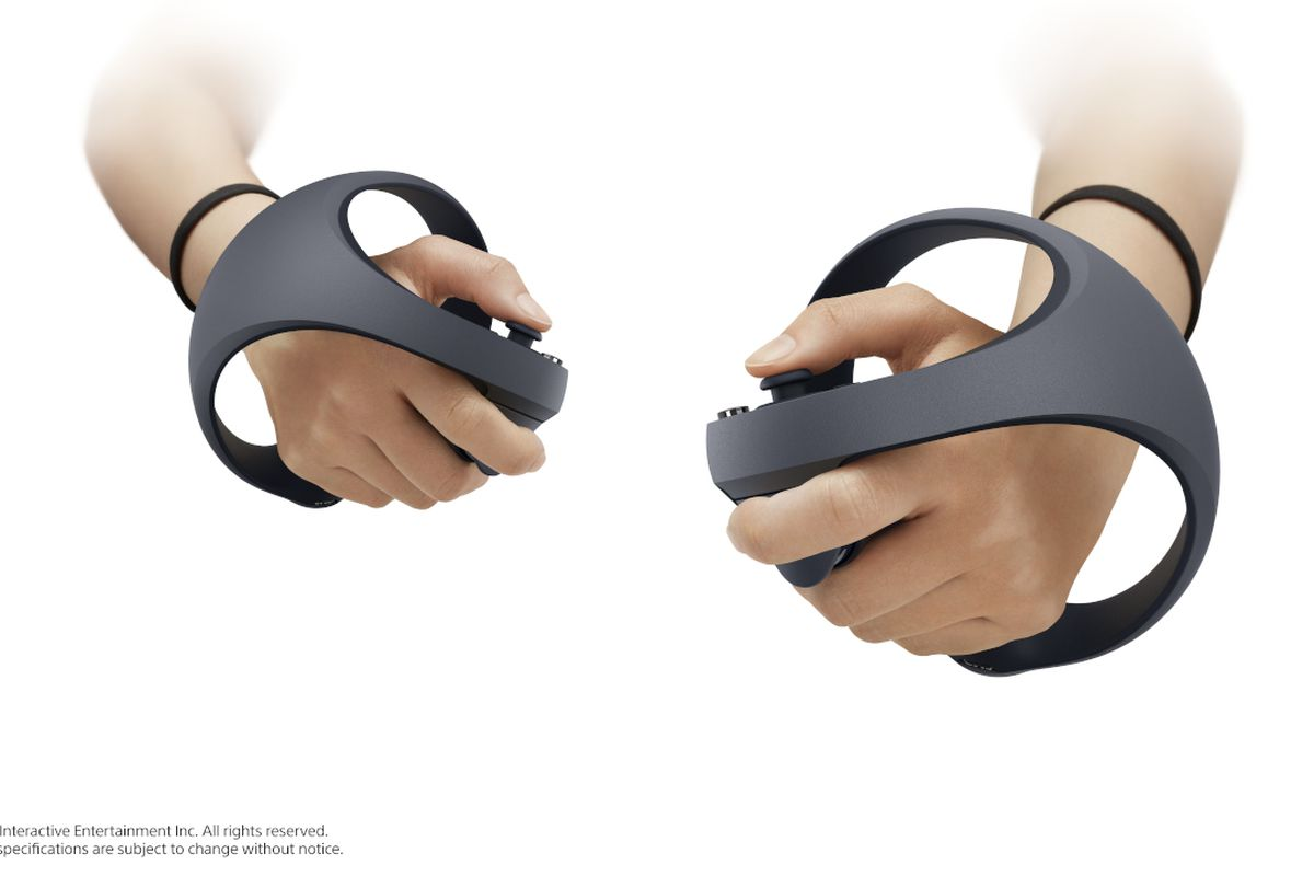A photo of hands in Sony's next-gen PlayStation VR controllers for PS5.