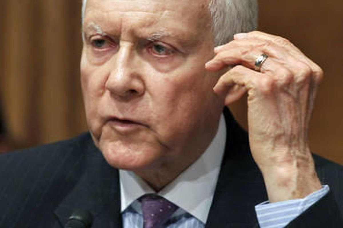 In this July 13, 2010 file photo, Sen. Orrin Hatch, R-Utah is seen on Capitol Hill in Washington.