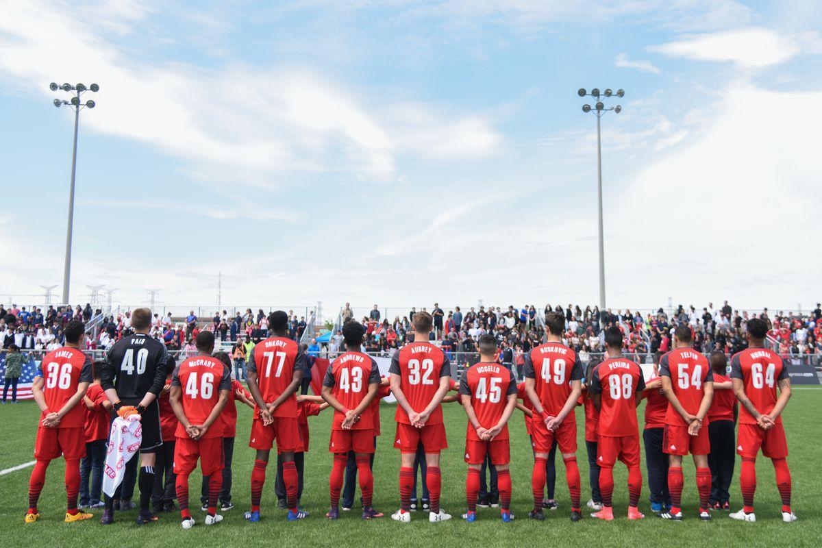 USL Photo - TFC II lineup ahead of match against the Richmond Kickers