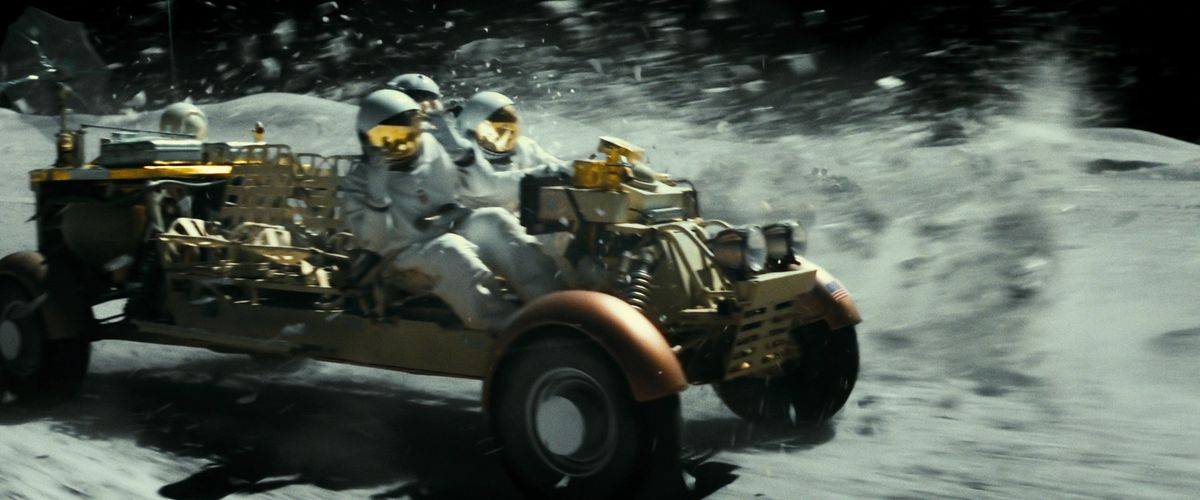 a lunar rider chase on the moon in ad astra