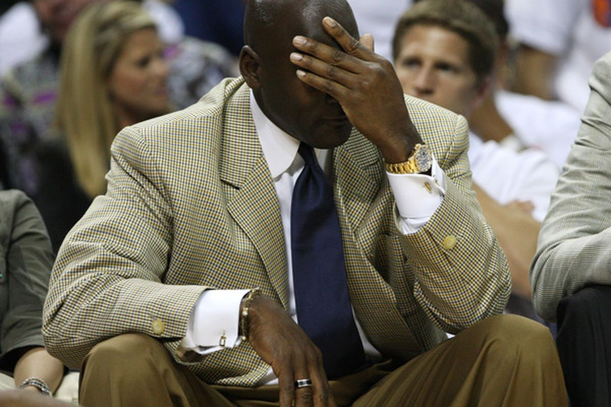 Michael Jordan facepalm steez.