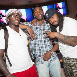 Terry Hawthorne, Martez Wilson and Mikel Leshoure at Heraea. Photo: The ONE Group