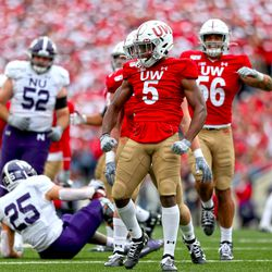 Time to celebrate. UW's D held Northwestern to 2.4 yards per attempt on the day.