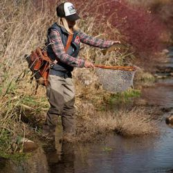 Amos Sharp-Nelson is a professional fly fisher.
