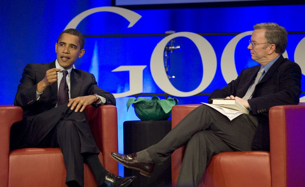 Obama Attends Google Town Hall Meeting