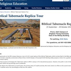 Brigham Young University has built a full-sized replica of the Biblical Tabernacle and the public is invited to see the display over the next month.
