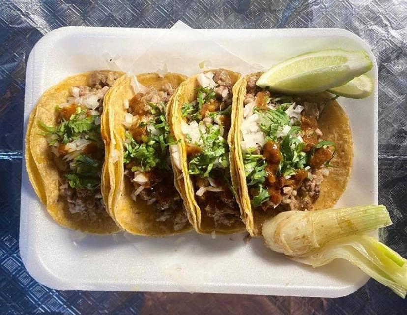 The mollejitas tacos from Cuantos Tacos