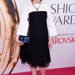 Lena Dunham in Creatures of the Wind and Irene Neuwirth jewelry