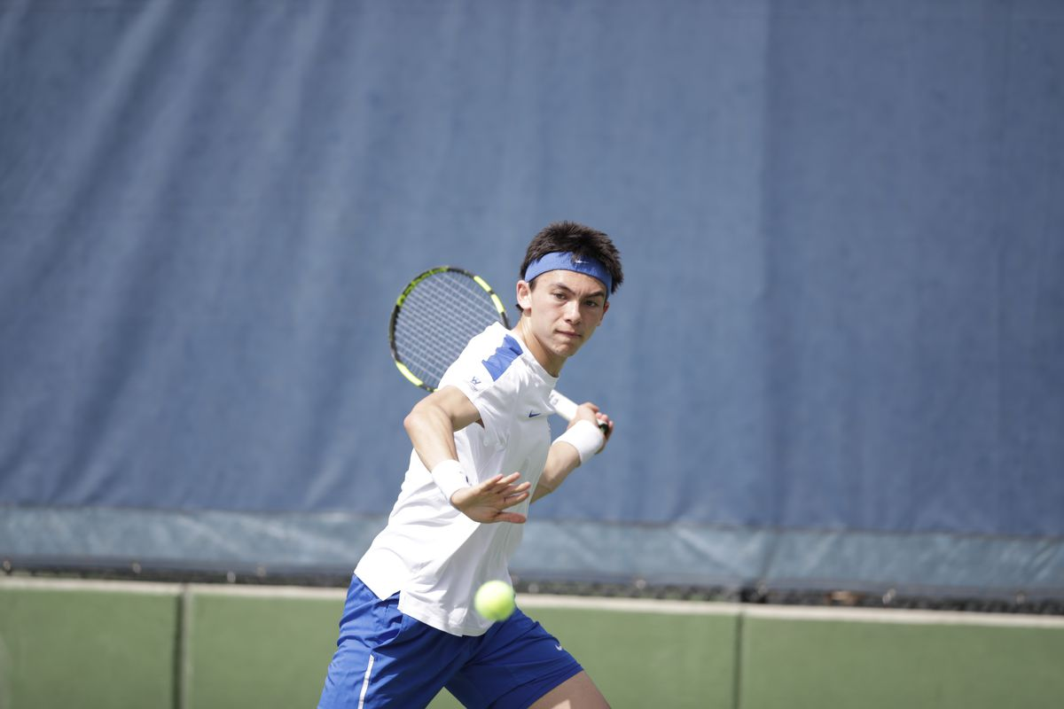 Sean Hill won his match at No. 1 singles to contribute to the Cougars' three points in the match.