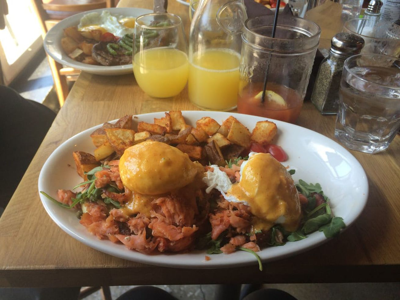 Lokal Wicker Park was popular for its Benedicts and bottomless mimosas