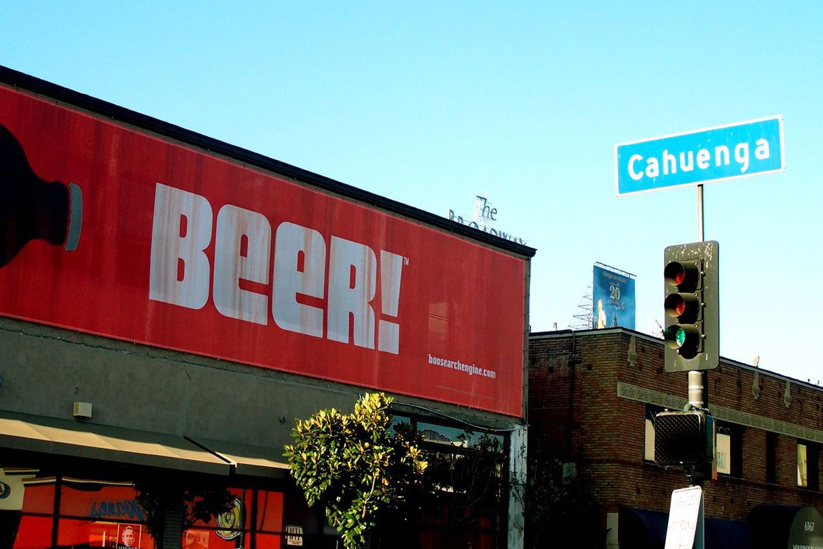 A beer sign in Hollywood