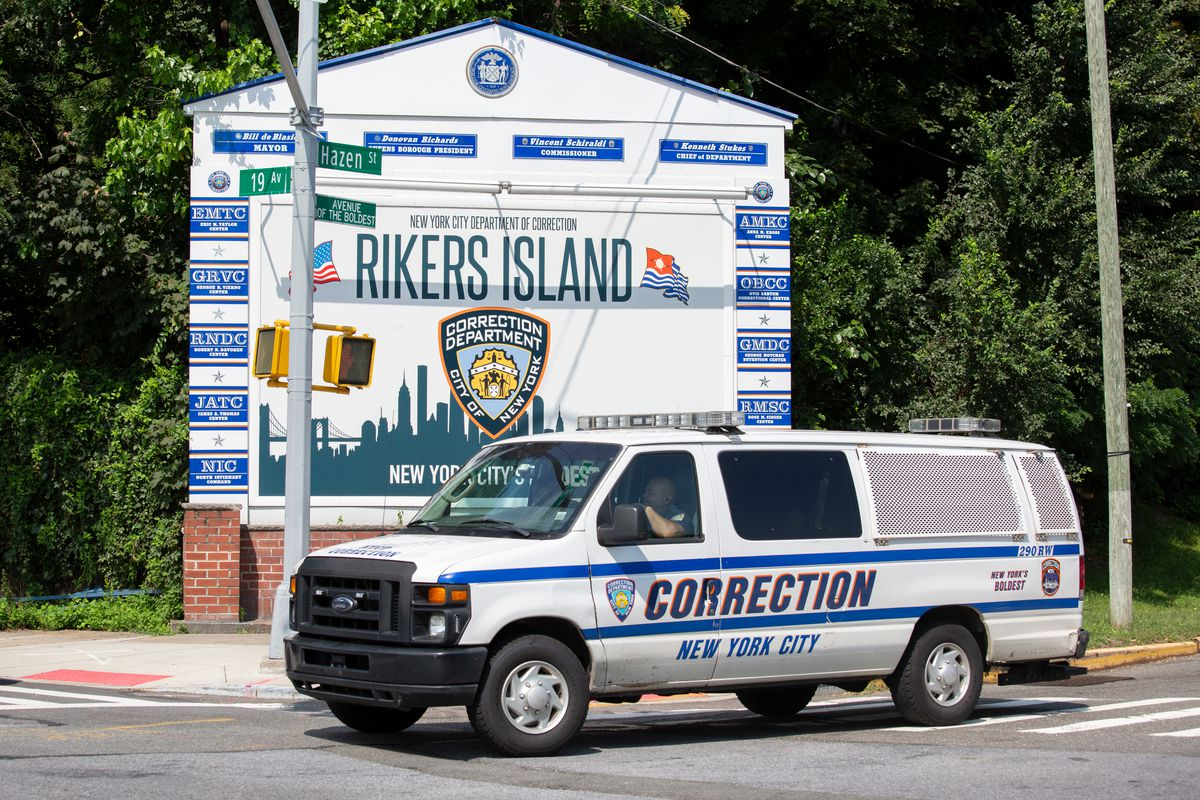 A Department of Correction van off Rikers Island, Sept. 13, 2021.