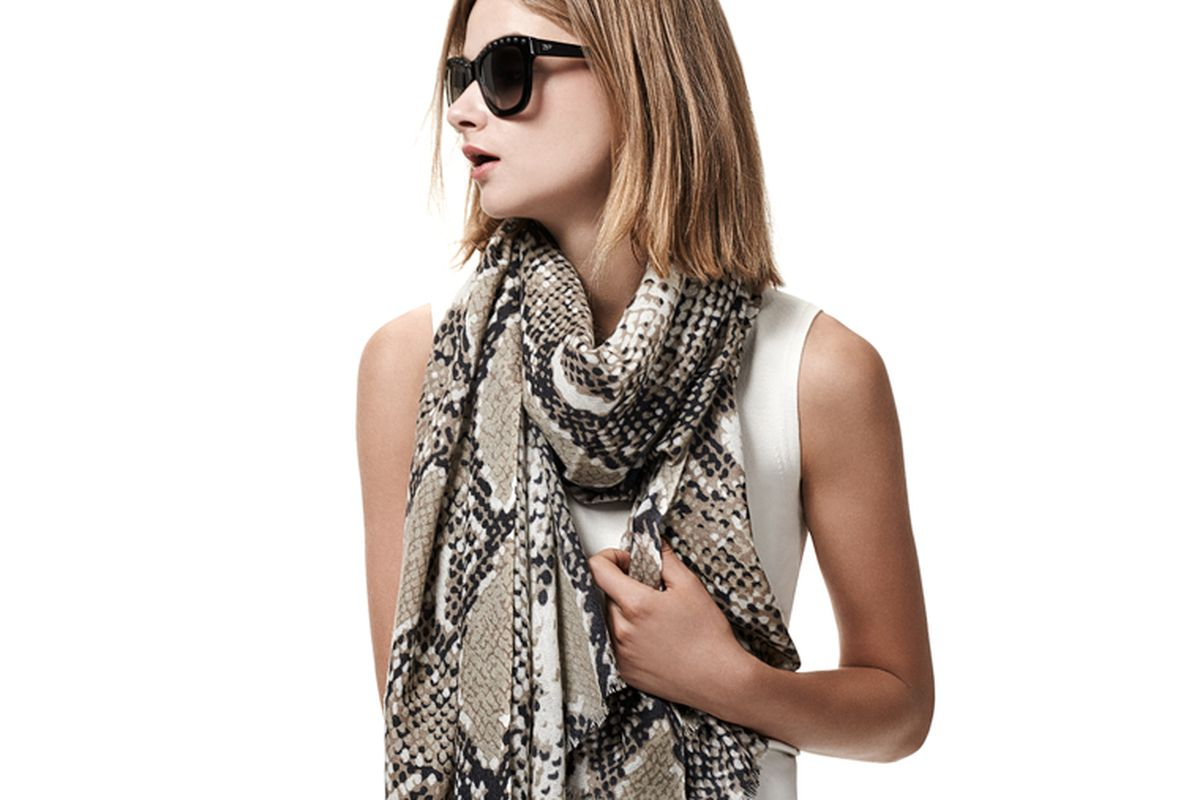 """A scarf and sunglasses from the <a href=""""http://www.goop.com/shop/designers/diane-von-furstenberg.html"""">Goop x DvF</a> collab"""
