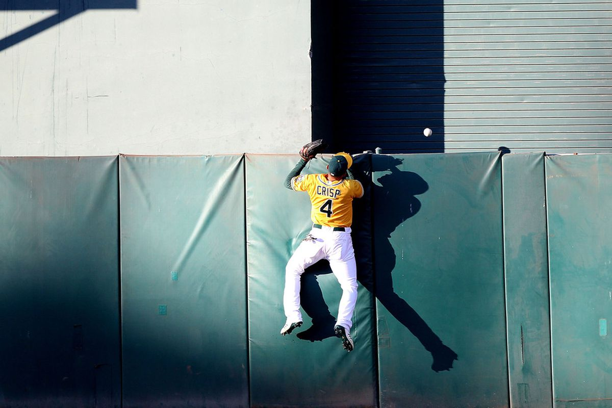 Legend has it that lurking in the darkness behind the CF wall are 300 runs waiting to be claimed. Do not be afraid, Coco. Only Matt Carson has tried to go there but he couldn't get through the wall.