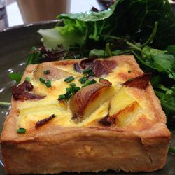 """Potato, Bacon, and Green Garlic Quiche at Rose Bakery by <a href=""""https://www.flickr.com/photos/polsia/14021686781/"""">Polsia"""