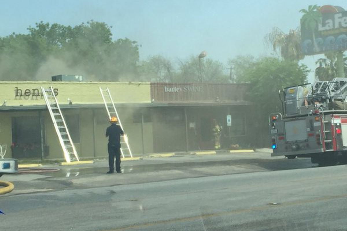 Austin Fire Department outside of Henri's