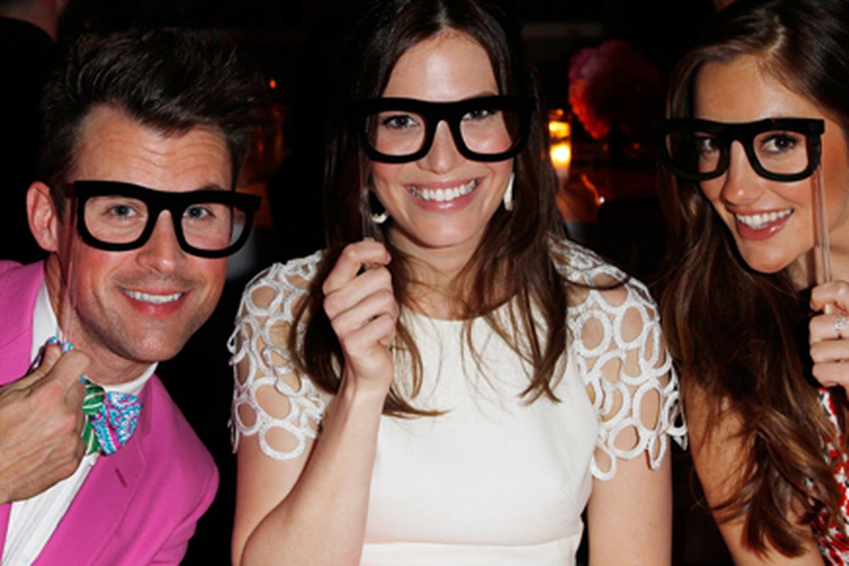 Brad Goreski, Mandy Moore, and Minka Kelly. Photo courtesy of Kate Spade.