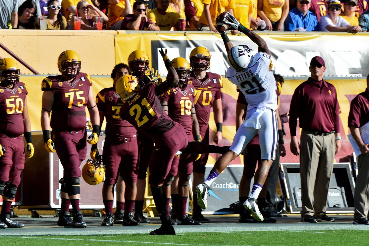 CB Marcus Peters with the pick vs. ASU last year