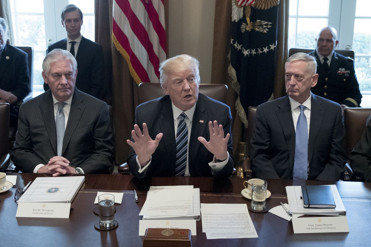 President Donald Trump Meets With Members Of His Cabinet