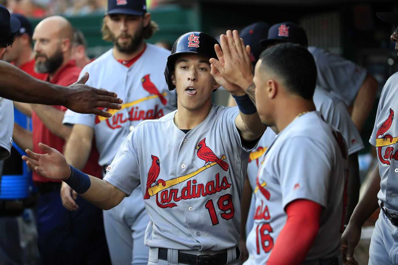 Cards Soar into First Place with a Season High 18 Hits and a 13-4 Win over Reds