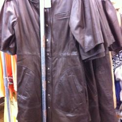 This leather dress is only $99.