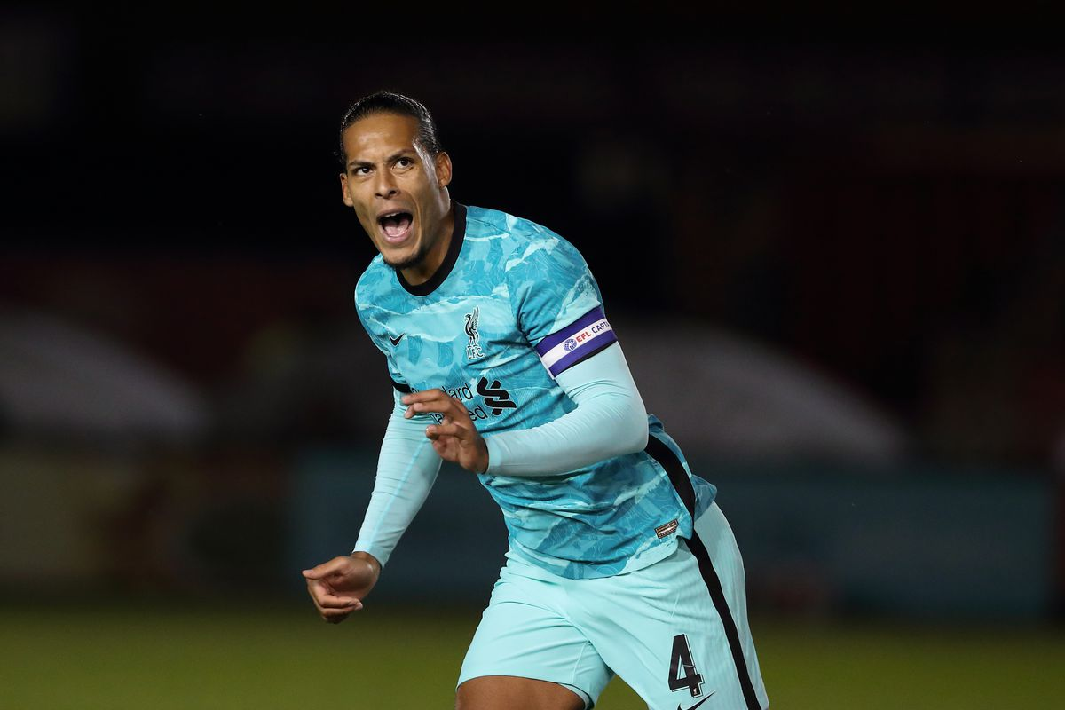 Lincoln City v Liverpool - Carabao Cup Third Round - Virgil van Dijk captains Liverpool away at Lincoln City