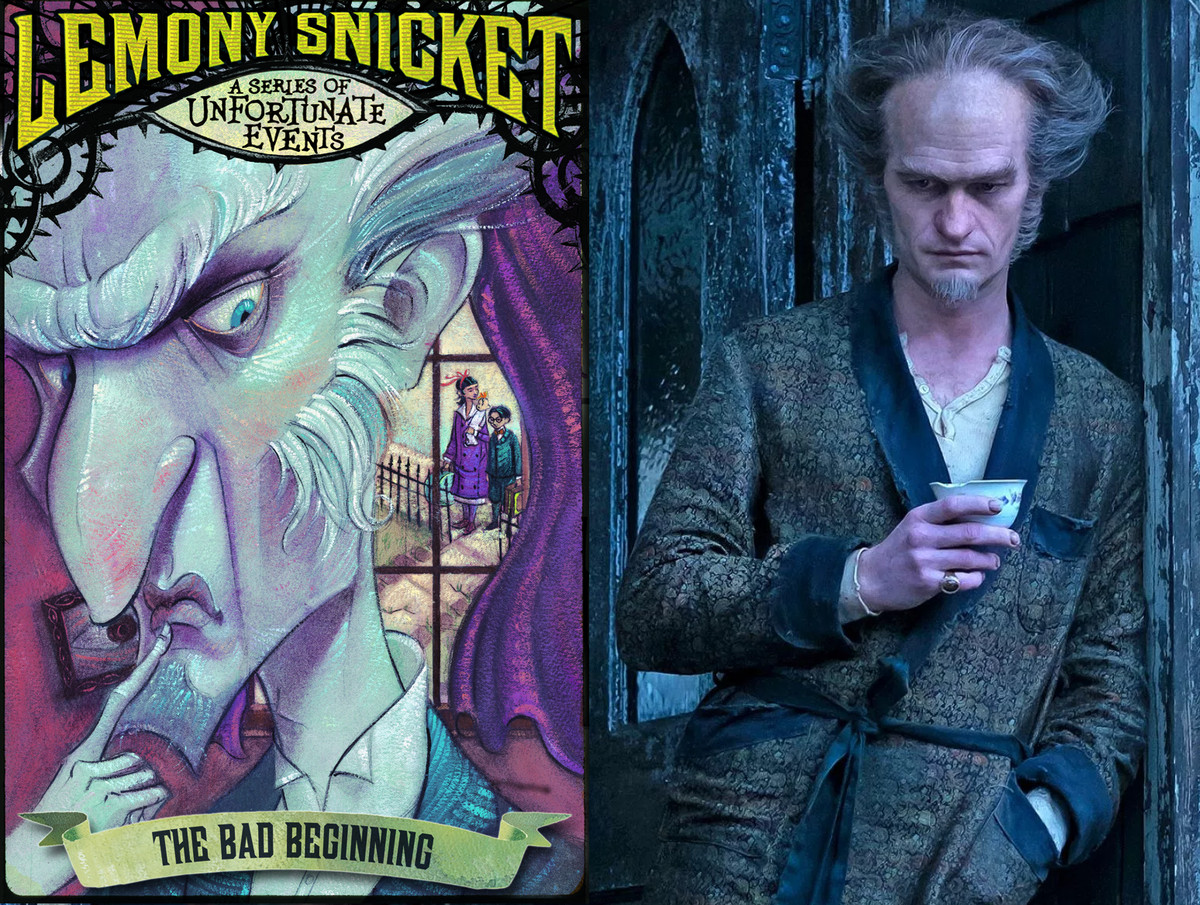 Image result for series of unfortunate events book cover vs netflix