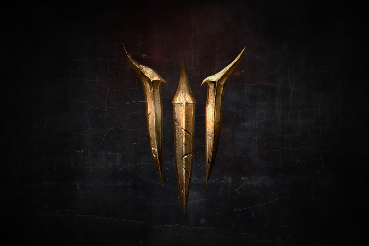 """A teaser logo for """"III"""" from Larian Studios' website"""