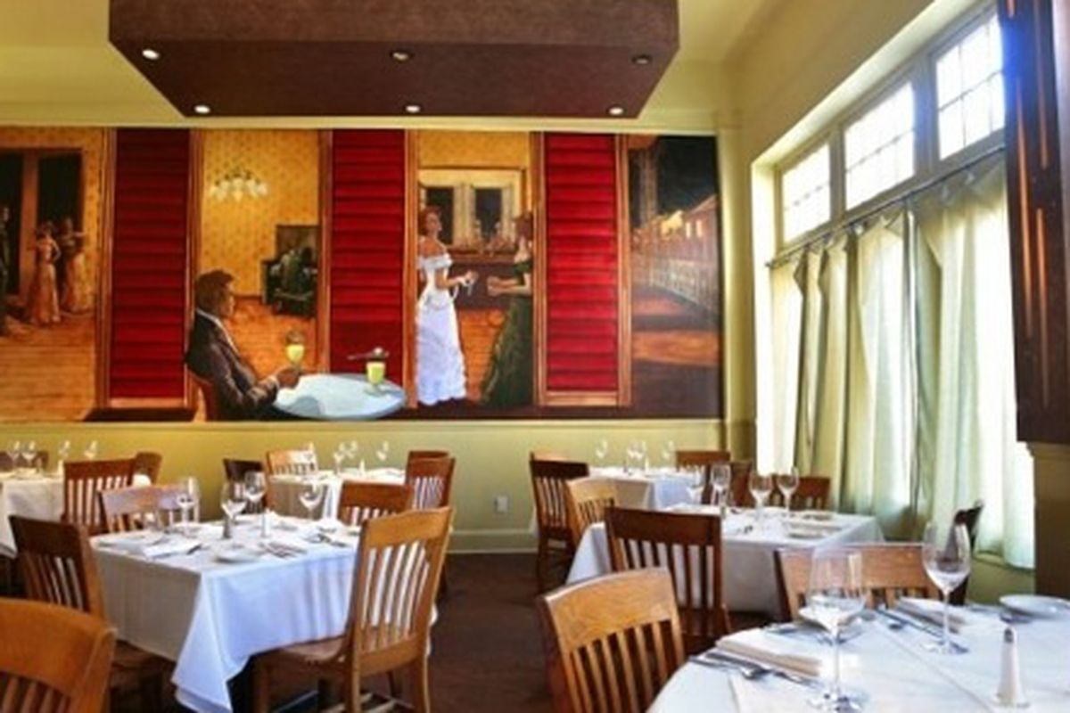 Dining room at Herbsaint.