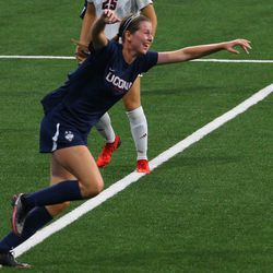 UConn's Lauren Hart #10 during the UMass Minutewomen vs the UConn Huskies at Morrone Stadium at Rizza Performance Center in an exhibition women's college soccer game in Storrs, CT, Monday, August 9, 2021.