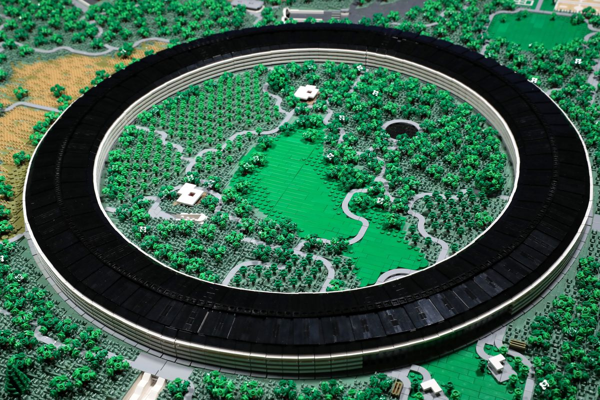apple park made of legos