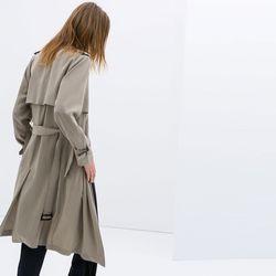"<b>Zara</b> Long Flowing Trench Coat, <a href=""http://www.zara.com/us/en/woman/coats/long-flowing-trench-coat-c367501p1666544.html"">$159</a>"
