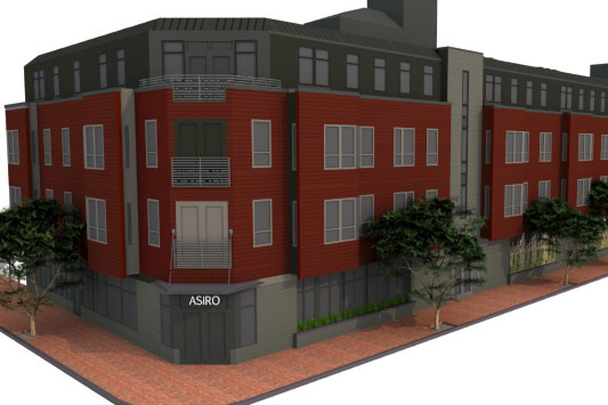 Artist's rendering of West End Place, coming to the corner of Portland's Pine and Bracket Streets in 2015.