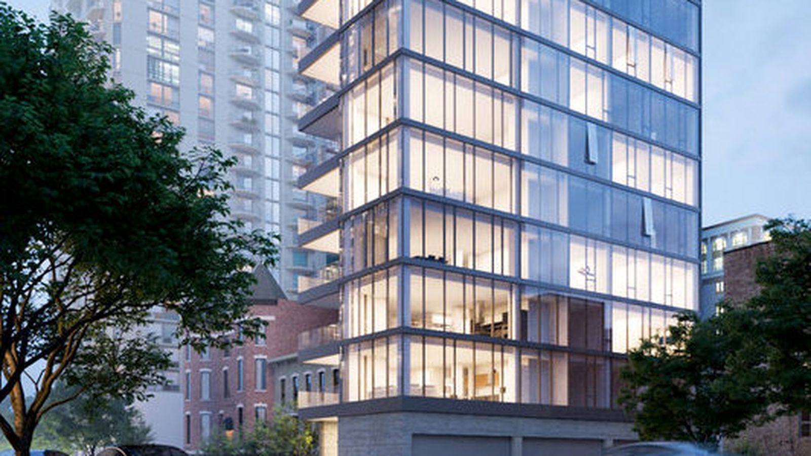 renderings reveal 13 story river north condo development near huron dearborn curbed chicago. Black Bedroom Furniture Sets. Home Design Ideas