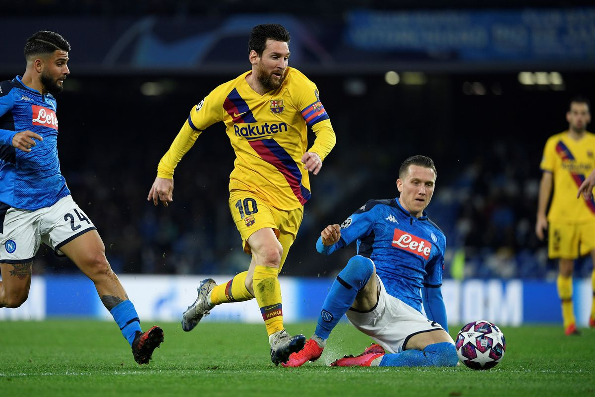 Napoli Vs Barcelona Champions League Final Score 1 1
