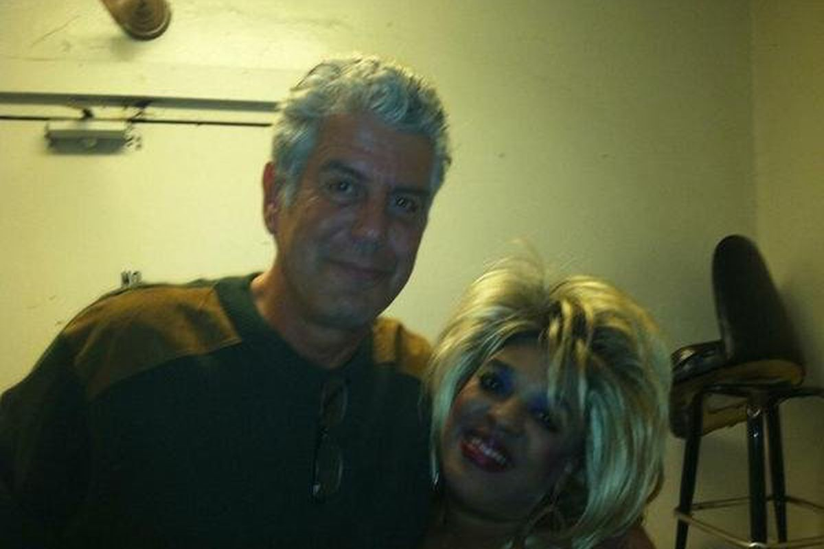 Anthony Bourdain and Clermont Lounge's Blondie.