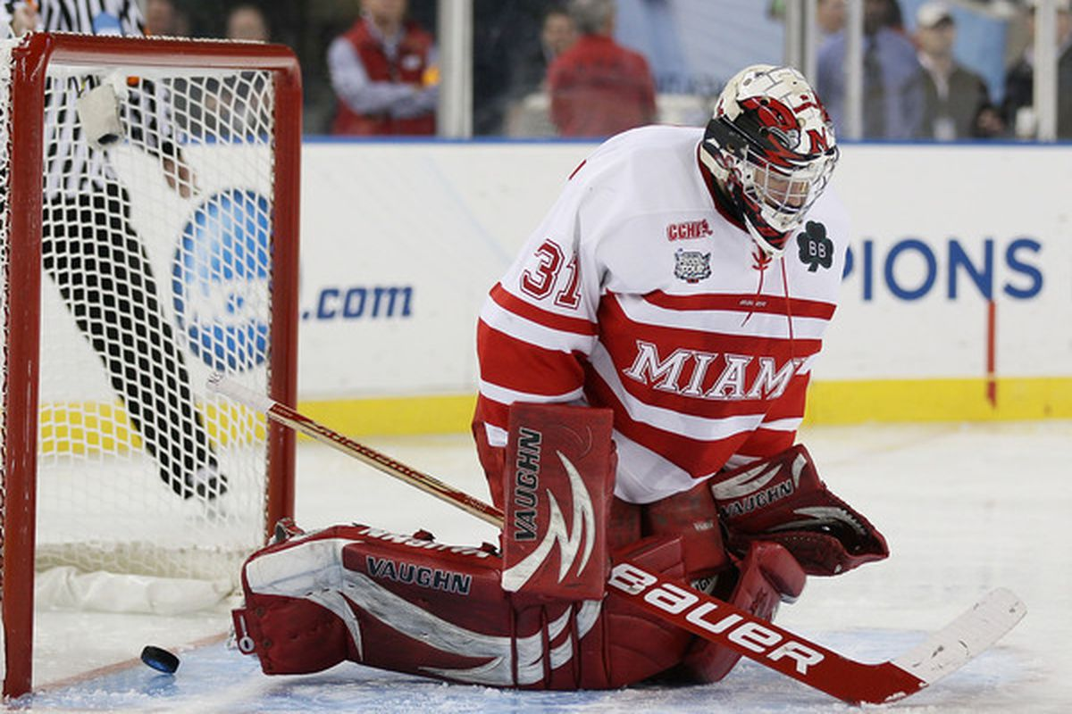 Unfortunately, this is the only picture Getty Images has of Connor Knapp, letting in a goal.