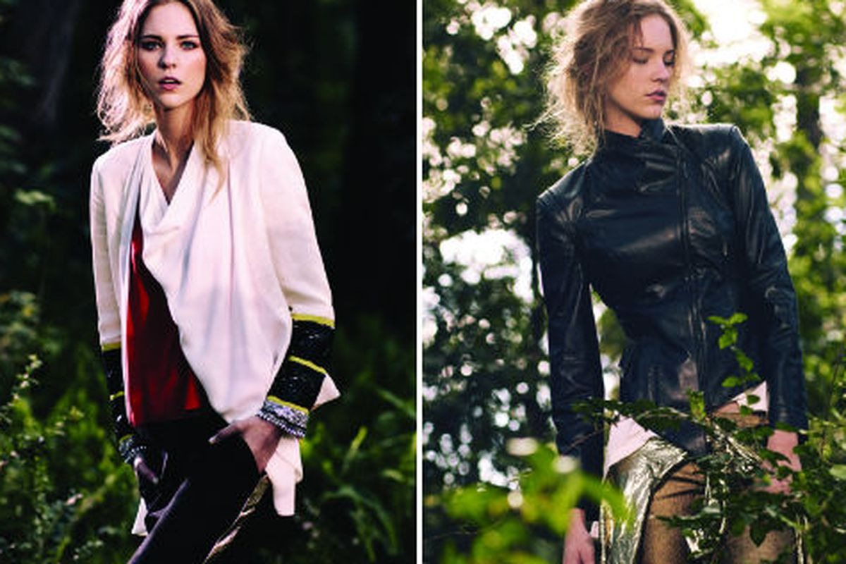 Two looks from Sass & Bide's fall 2012 collection