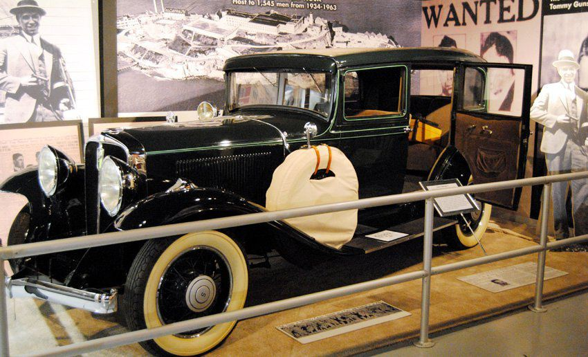 A 1932 Studebaker used by John Dillinger in an Indiana Bank Robbery.   Photo courtesy of Historic Auto Attractions/Facebook