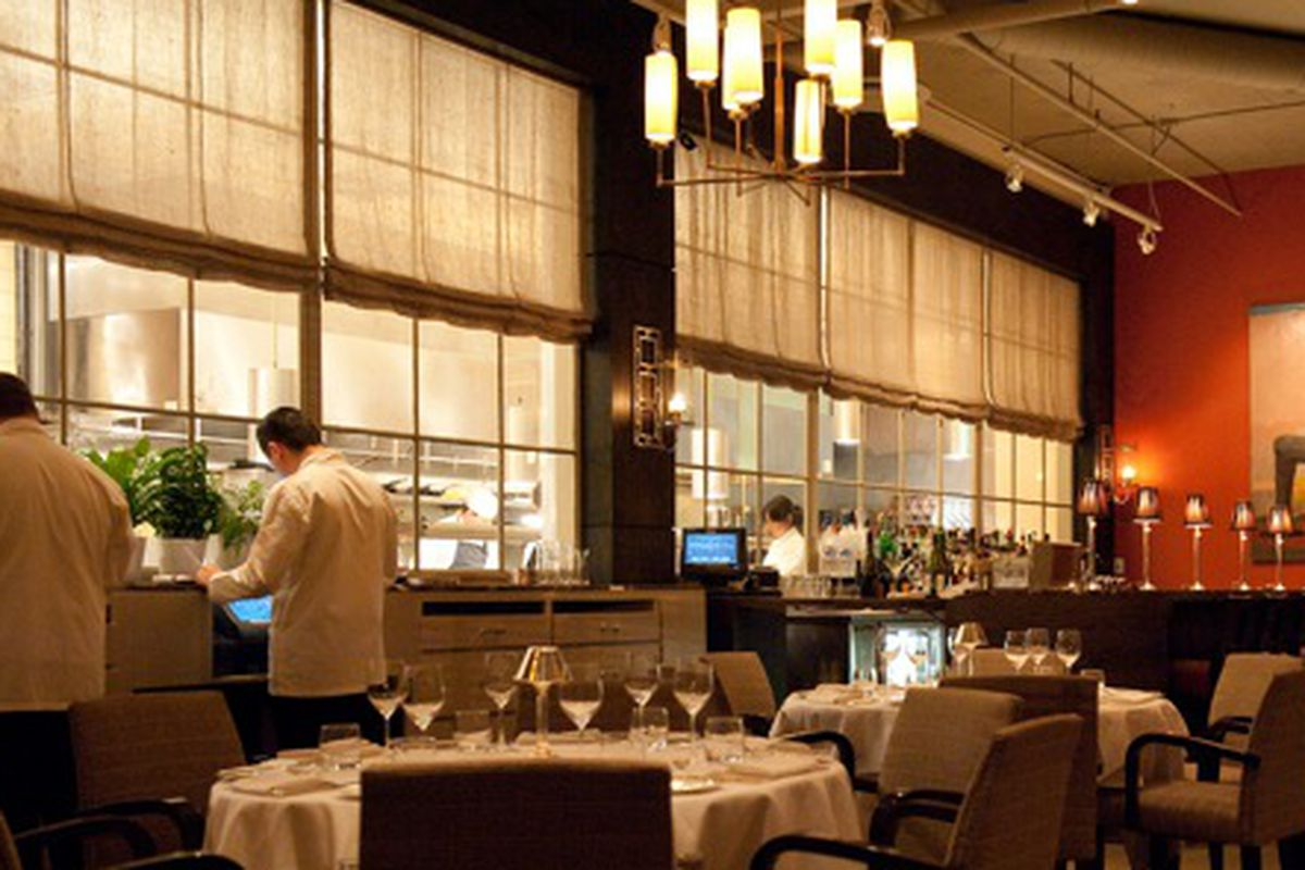 The dining room at Bacchanalia.