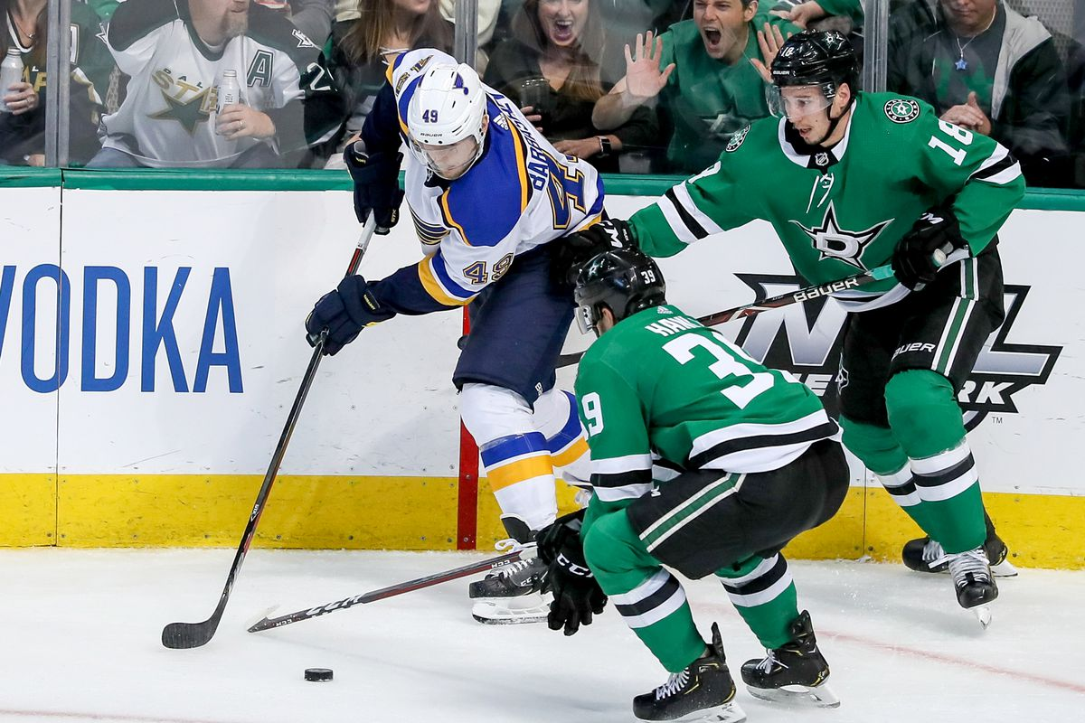 NHL: MAY 01 Stanley Cup Playoffs Second Round - Blues at Stars
