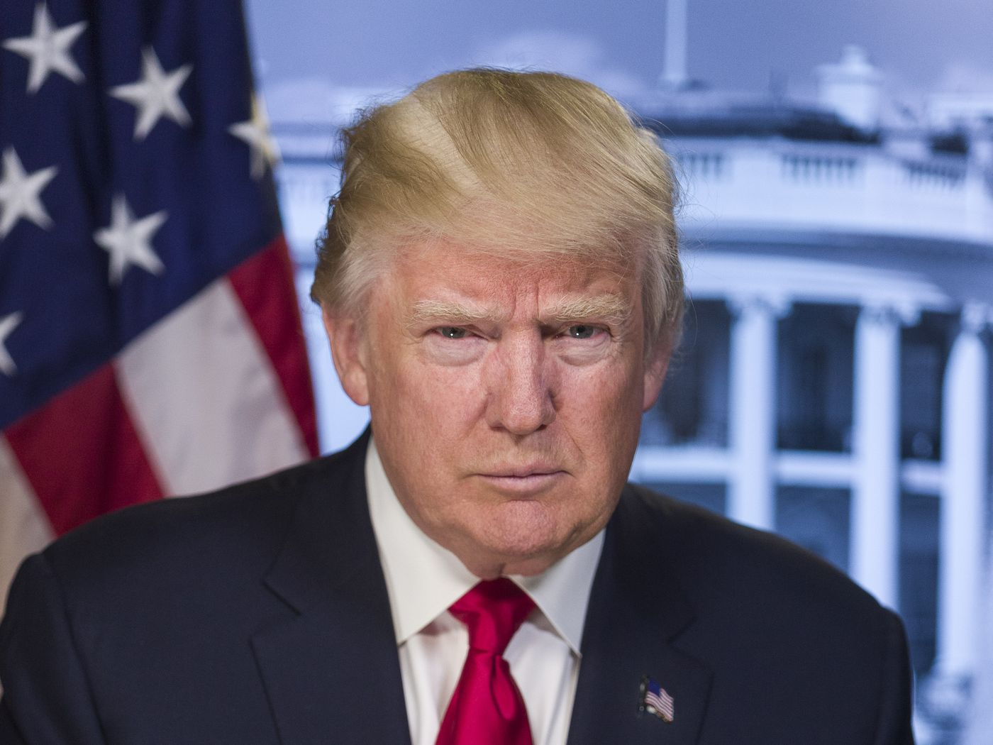 Whats so strange about trumps white house portrait experts explain