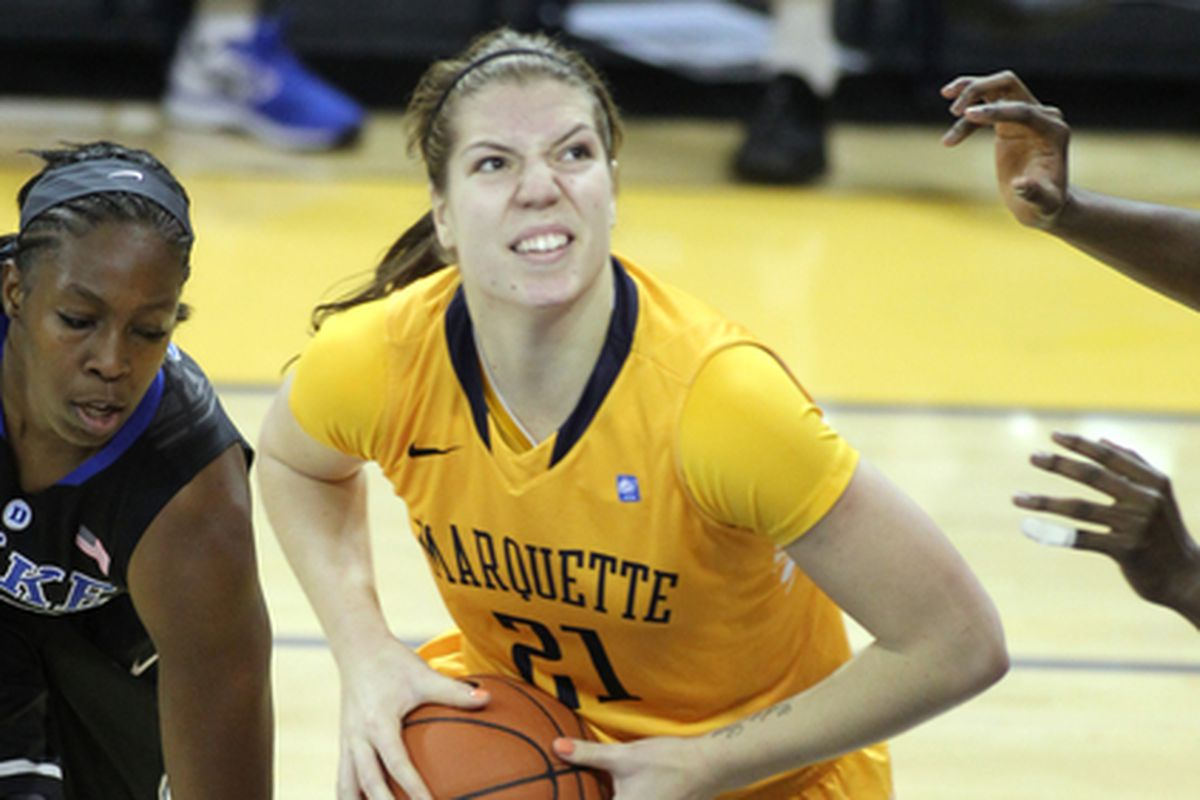Katherine Plouffe leads the way for the Golden Eagles.