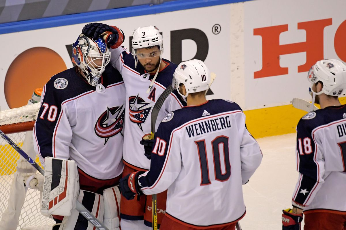 NHL: Stanley Cup Playoffs-Columbus Blue Jackets at Tampa Bay Lightning