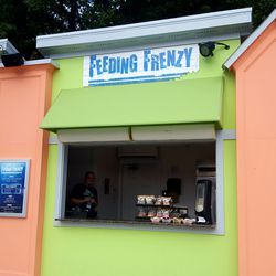 Another munching location on this block of kiosks is called Feeding Frenzy, which is not morbid at all...