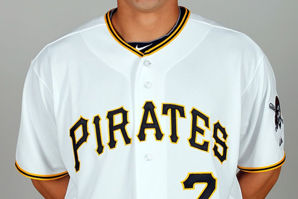 BRADENTON FL - FEBRUARY 20:  Infielder Josh Rodriguez #7 of the Pittsburgh Pirates poses for a photo during photo day at Pirate City on February 20 2011 in Bradenton Florida.  (Photo by J. Meric/Getty Images)
