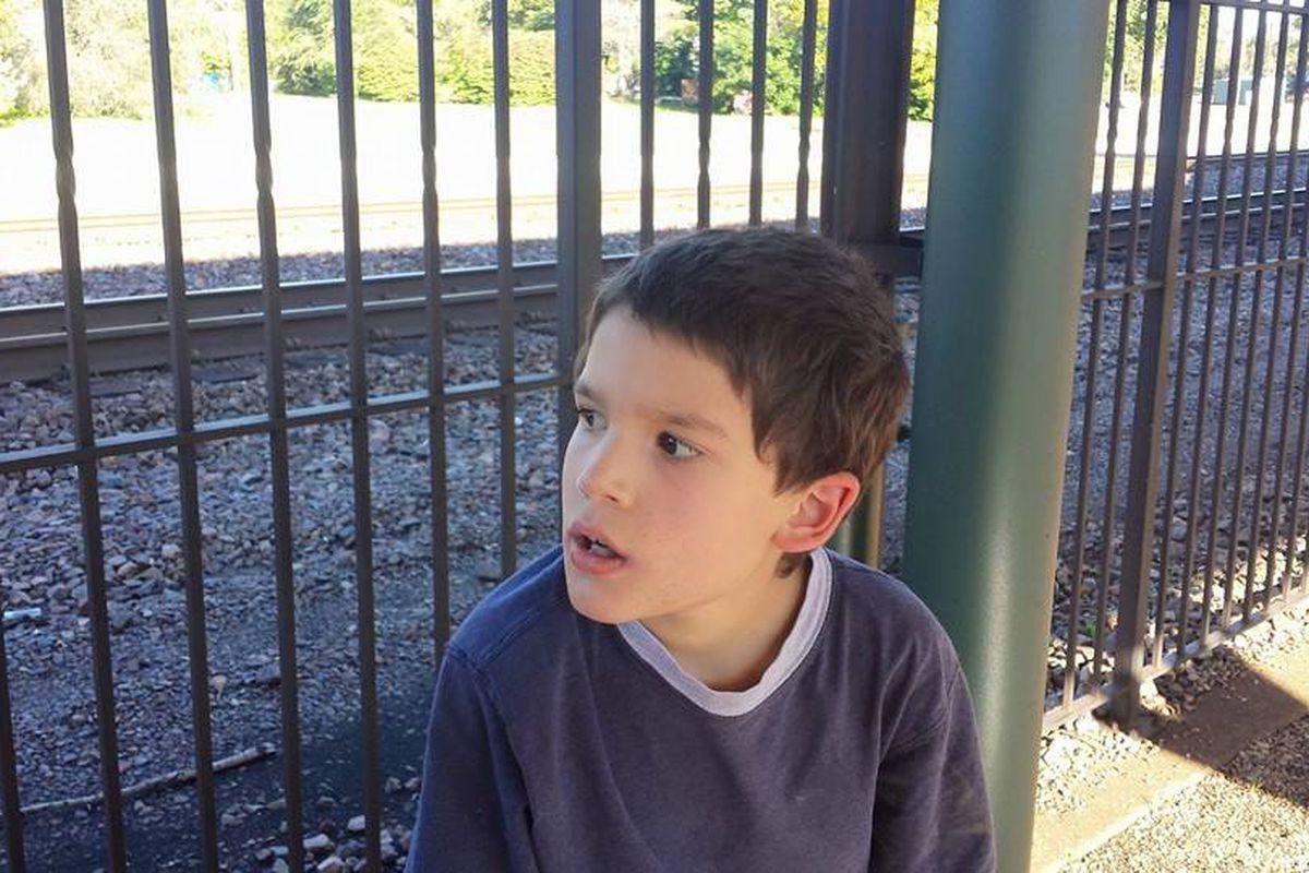 Jackson Sickels at the train depot