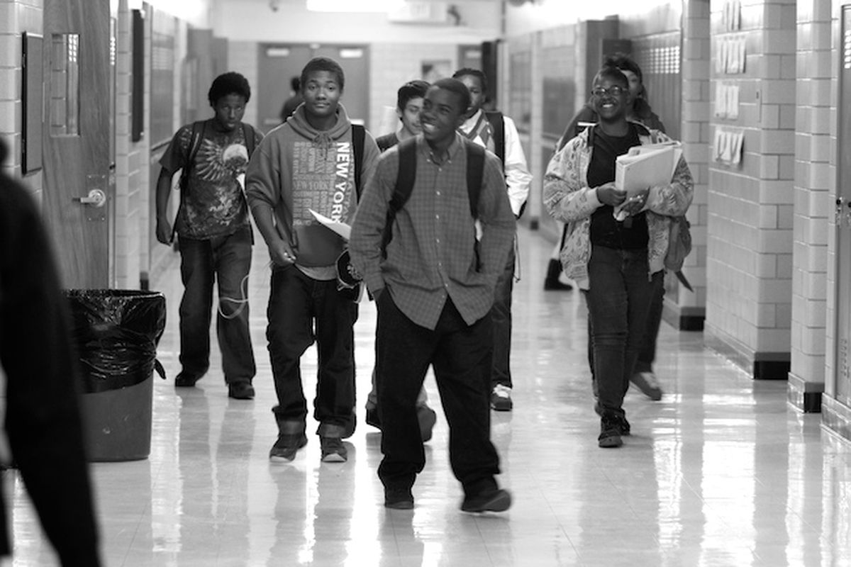 Manual High School students pass through the halls in between classes. The five minutes students are supposed to have between each class can sometimes stretch to 10 or 15 cutting into instruction time.